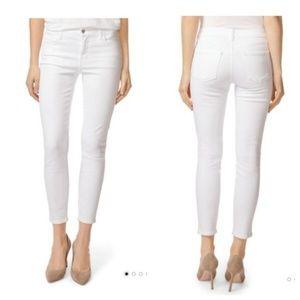 J Brand Capri Mid Rise Skinny Jeans White Size 28